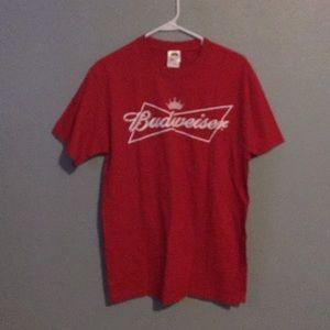 Budweiser medium red t shirt